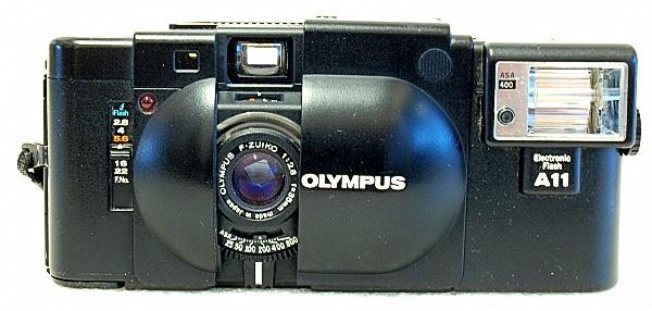 Olympus XA, front