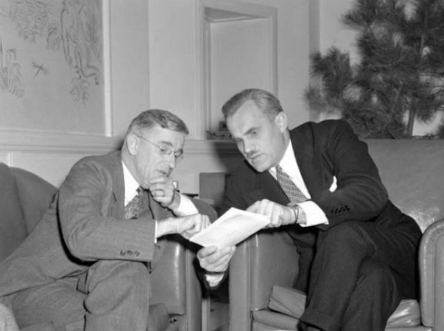 Vannevar Bush and Arthur Compton 28 June 1941 worldwartwo.filminspector.com