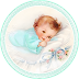 Cute Babies at Bed. Free Printable Cards, Toppers or Labels.