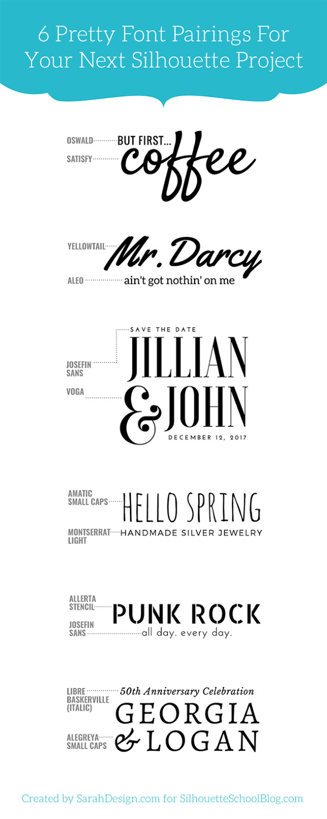 1 tip for perfectly pairing fonts for your silhouette for Pretty project