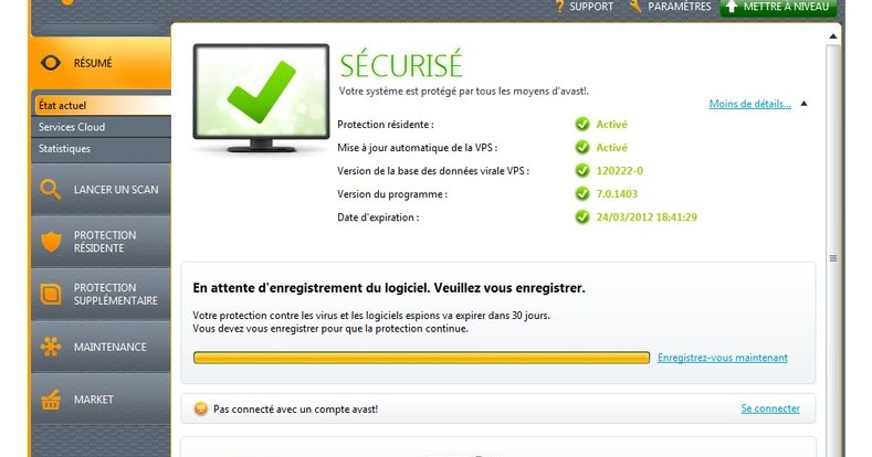 antivirus avast gratuit 2012 sur clubic