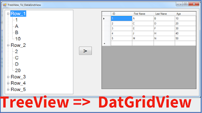 Transfer TreeView Nodes To DataGridView Using C#