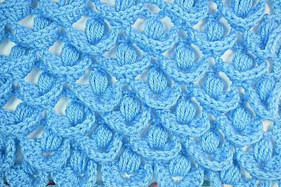 3 - Crochet IMAGEN Punto a relieve combinado con punto puff. MAJOVEL CROCHET