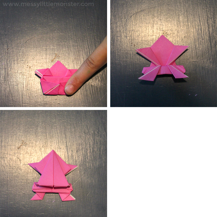 origami jumping frog craft for kids