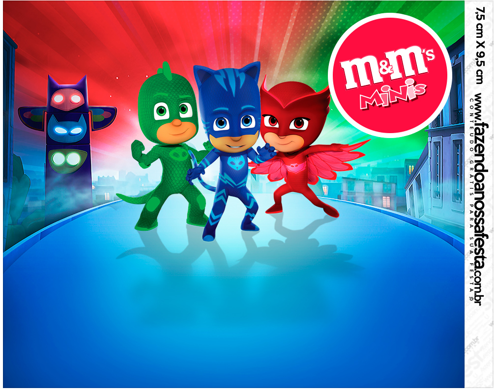 graphic relating to Pj Masks Printable Images titled PJ Masks: Absolutely free Printable Sweet Bar Labels. - Oh My Fiesta
