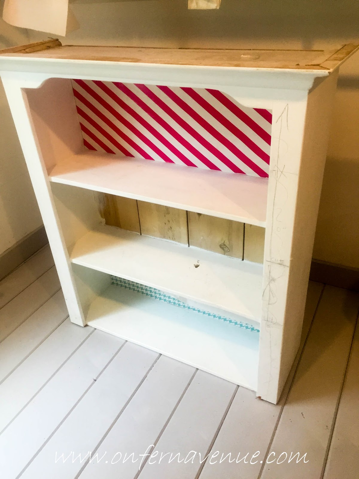 Turning A Bookcase Into A Bench Using Old Fashioned Milk Paint Lynn Fern
