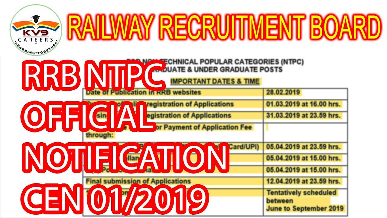 RRB NTPC Recruitment 2019: Apply for 35,277 railway jobs from today