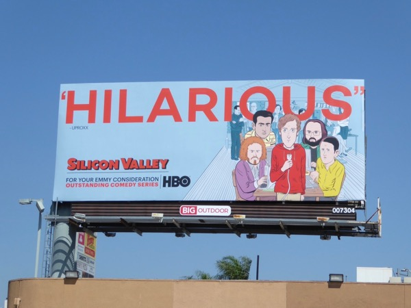 Silicon Valley Hilarious 2017 Emmy noms billboard