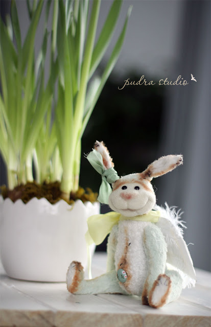 handmade bunny, handmade rabbit, easter decor