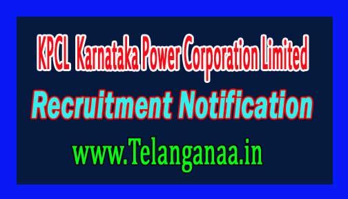 KPCL (Karnataka Power Corporation Limited) Recruitment Notification 2016