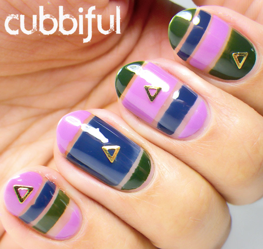 Negative Space and Triangle Studs Nails