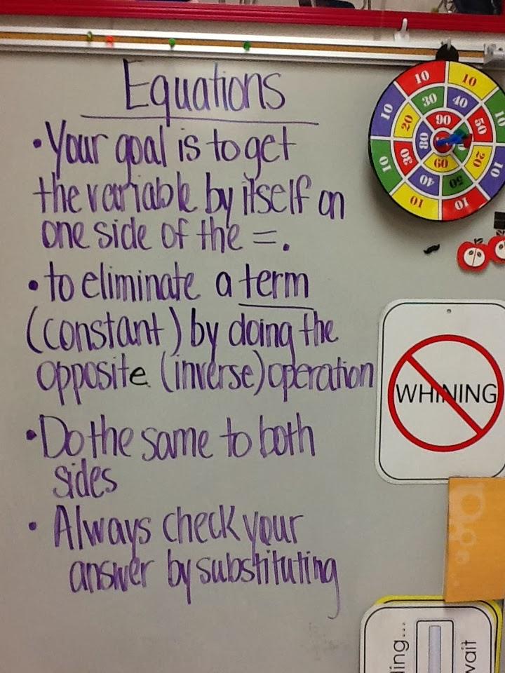 Mrs. White's 6th Grade Math Blog: SOLVING ALGEBRAIC ...