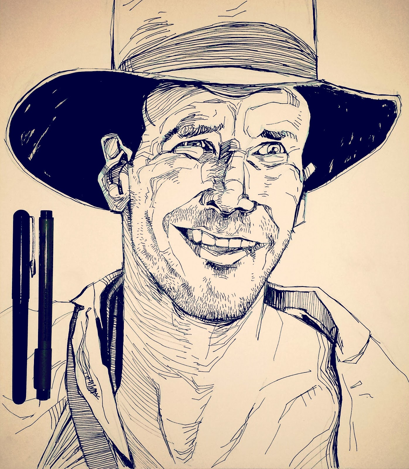 Harrison Ford Indiana Jones illustration