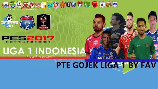 PES17 PTE Patch Unofficial Gojek Liga 1 Indonesia Patch 6.5.3