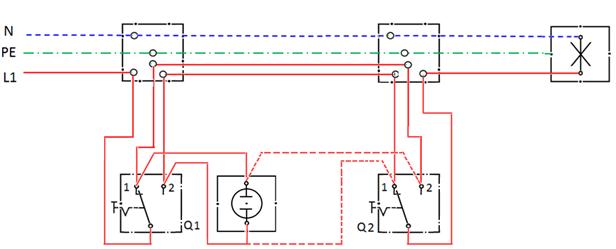 Lokasi jendela ilmu terdekat sistim pengaturan satu saklar dua arah diagram pengawatan ccuart Images