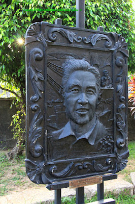 Ferdinand Marcos, Bronze relief plaque, Intramuros, Manila, Philippines