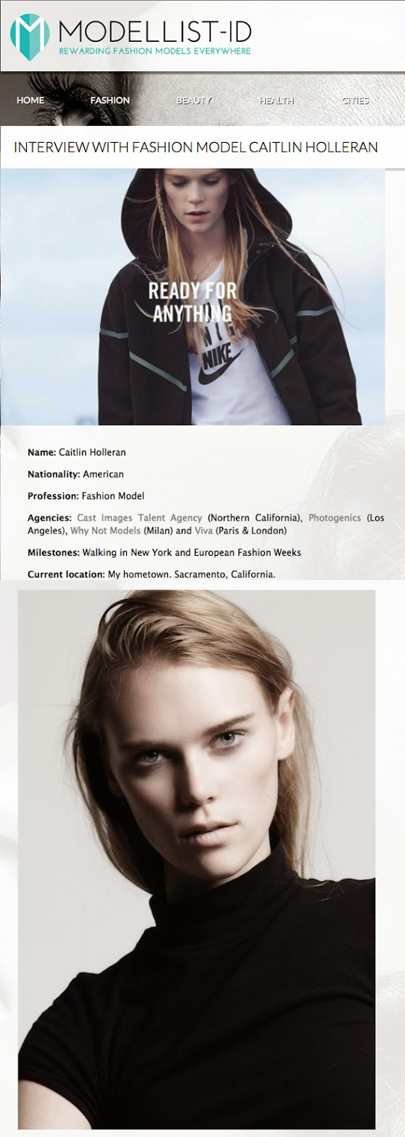 Caitlin Holleran - Cast Images - Modellist Interview