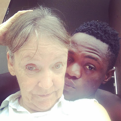 Nigerian man celebrates his much older White wife on Facebook (Photos)