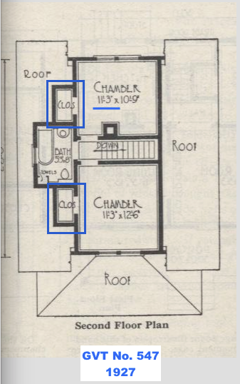Gordon Van Tine No. 547 floor plan second floor