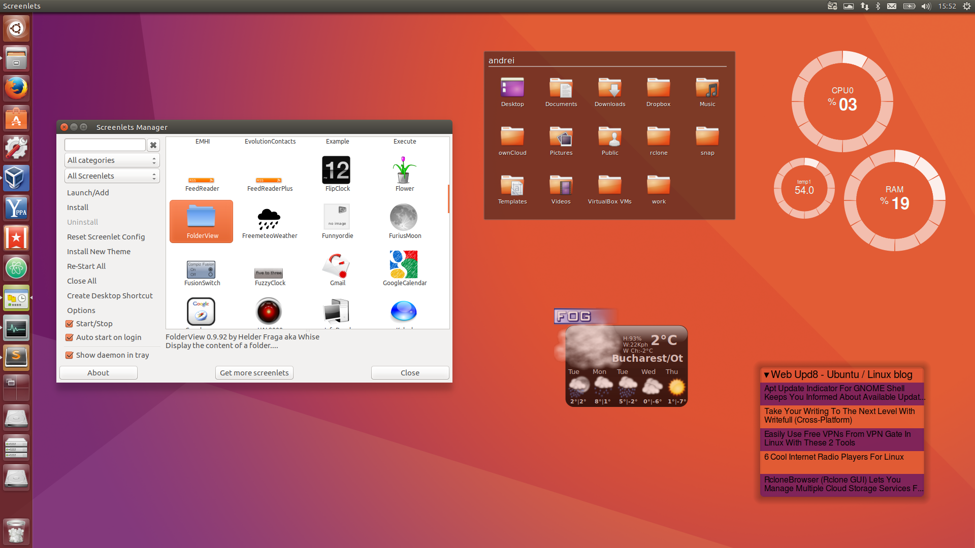 Screenlets (Desktop Widgets) Fixed For Ubuntu 16 04, Available In