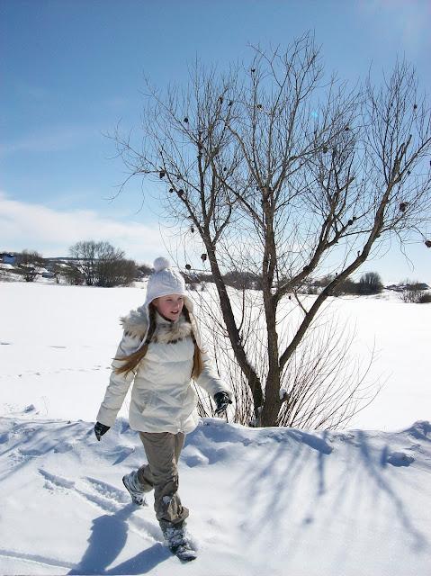 мгновения весны...март...деревня...озеро...