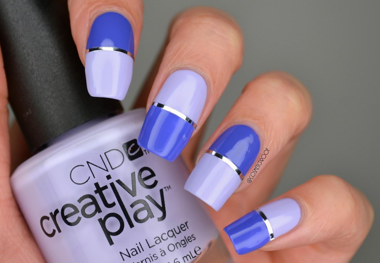 Nails Purple Split Screen Manimonday Cosmetic Proof Vancouver