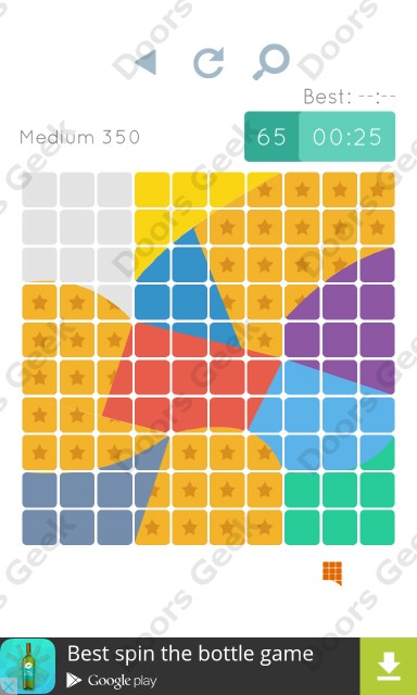 Cheats, Walkthrough for Blocks and Shapes Medium Level 350