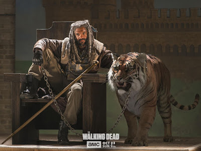 The Walking Dead Season 7 Episode 2 - King Ezekiel and Shiva