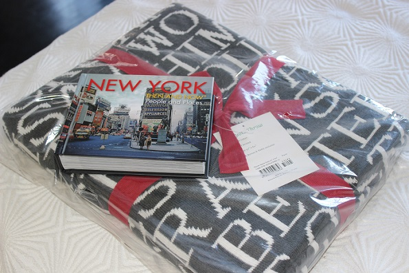Barnes & Noble book and blanket