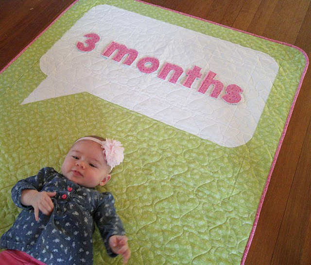 Speak Love quilt with quilted letters