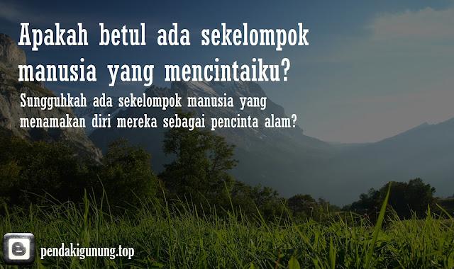 mungkinkah gunung bisa berbicara