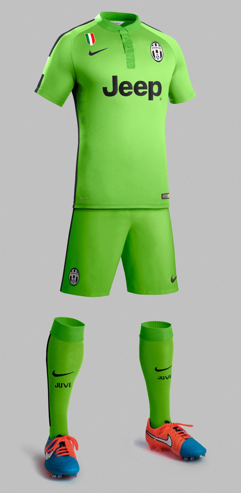 b6cd28fb Similar to the other Nike 14-15 Third Kits, the new Juventus 2014-2015  Third Kit features a darker tone of green on the back of the shirt, shorts  and socks.