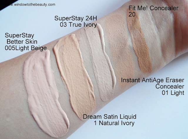 Maybelline natural ivory  true ivory light beige