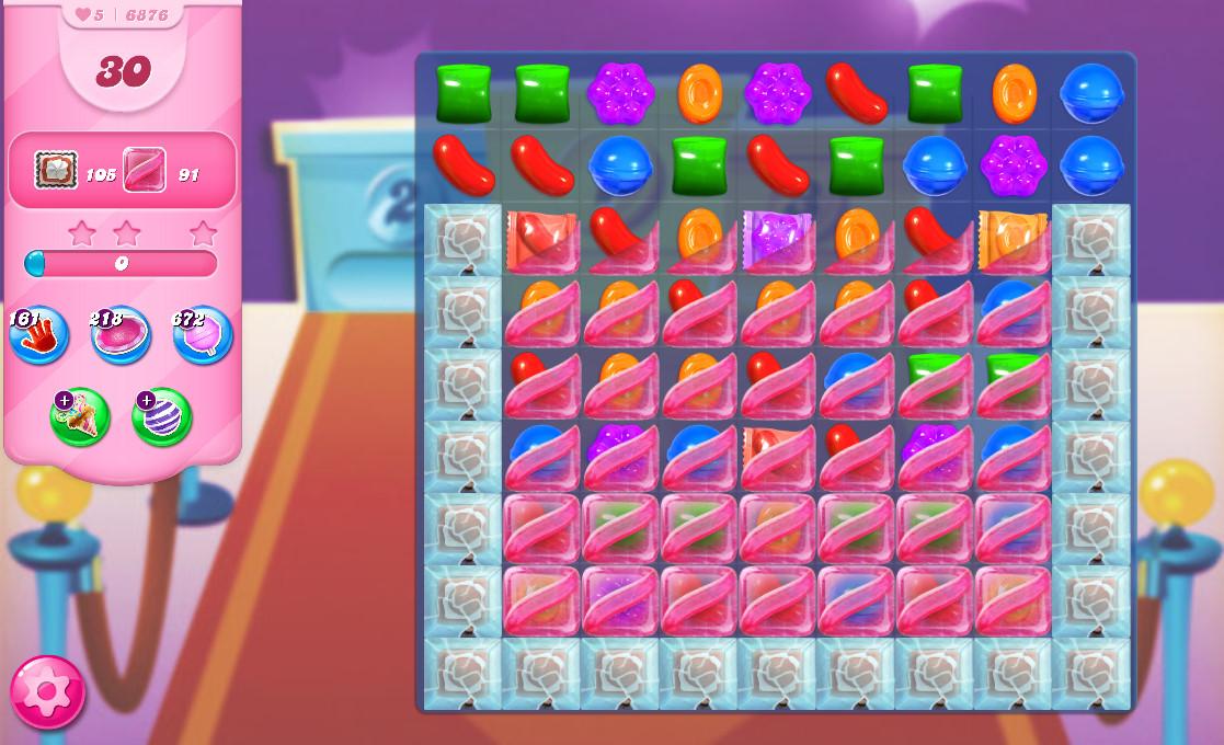 Candy Crush Saga level 6876
