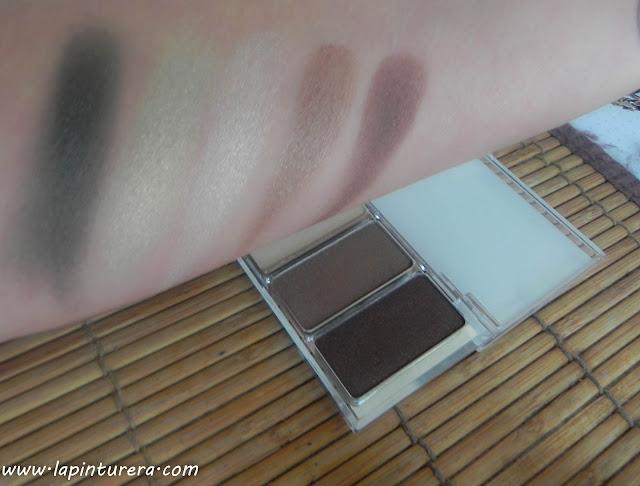 swatches paleta de sombras