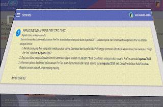 informasi pre test UKG sim PKB 2017