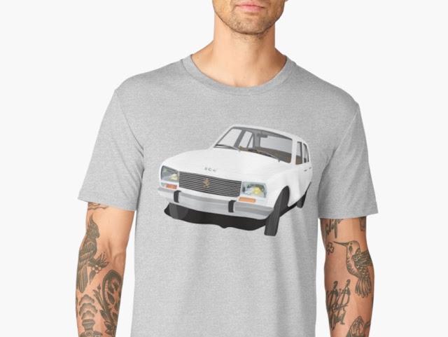 Iconic Peugeot 504 t-shirt