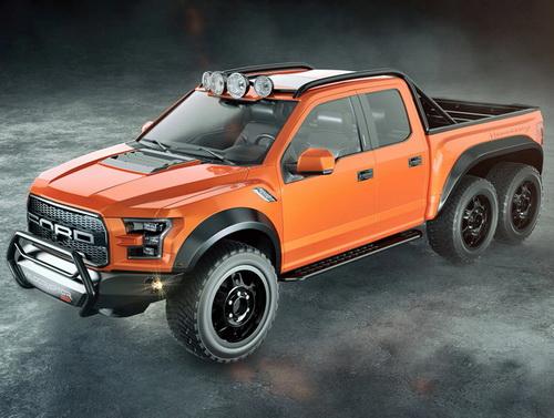 Tinuku.com Hennessey VelociRaptor 6X6 boost 600 horsepower Ford F-150 Raptor truck