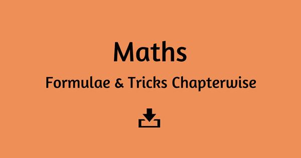 Maths Tricks & Formula Capsule PDF Download – SSC