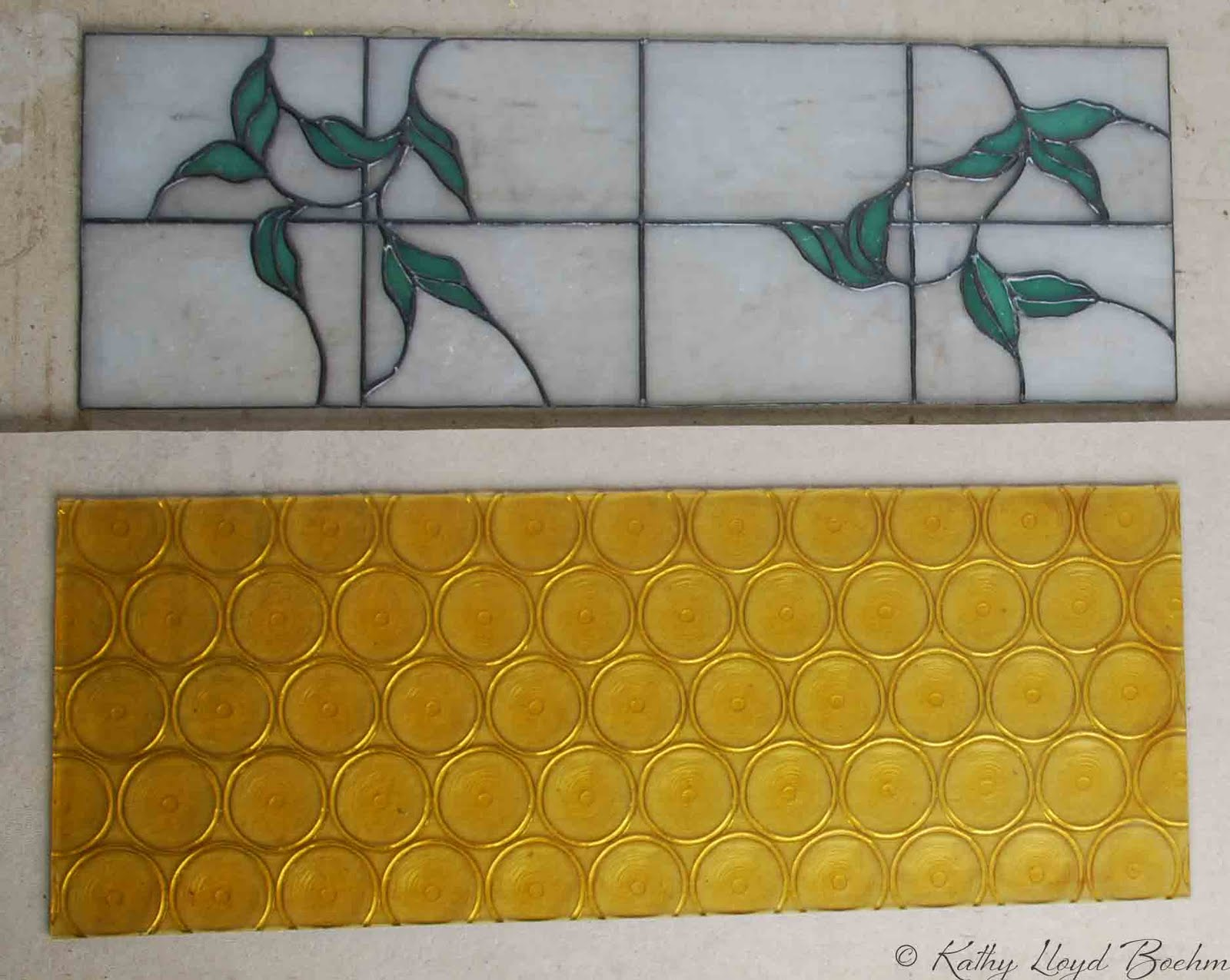 Stained Glass Kitchen Cabinets