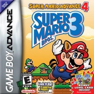 Imagen con el cartucho de la Game Boy Advanced del juego Super Mario Bross 3