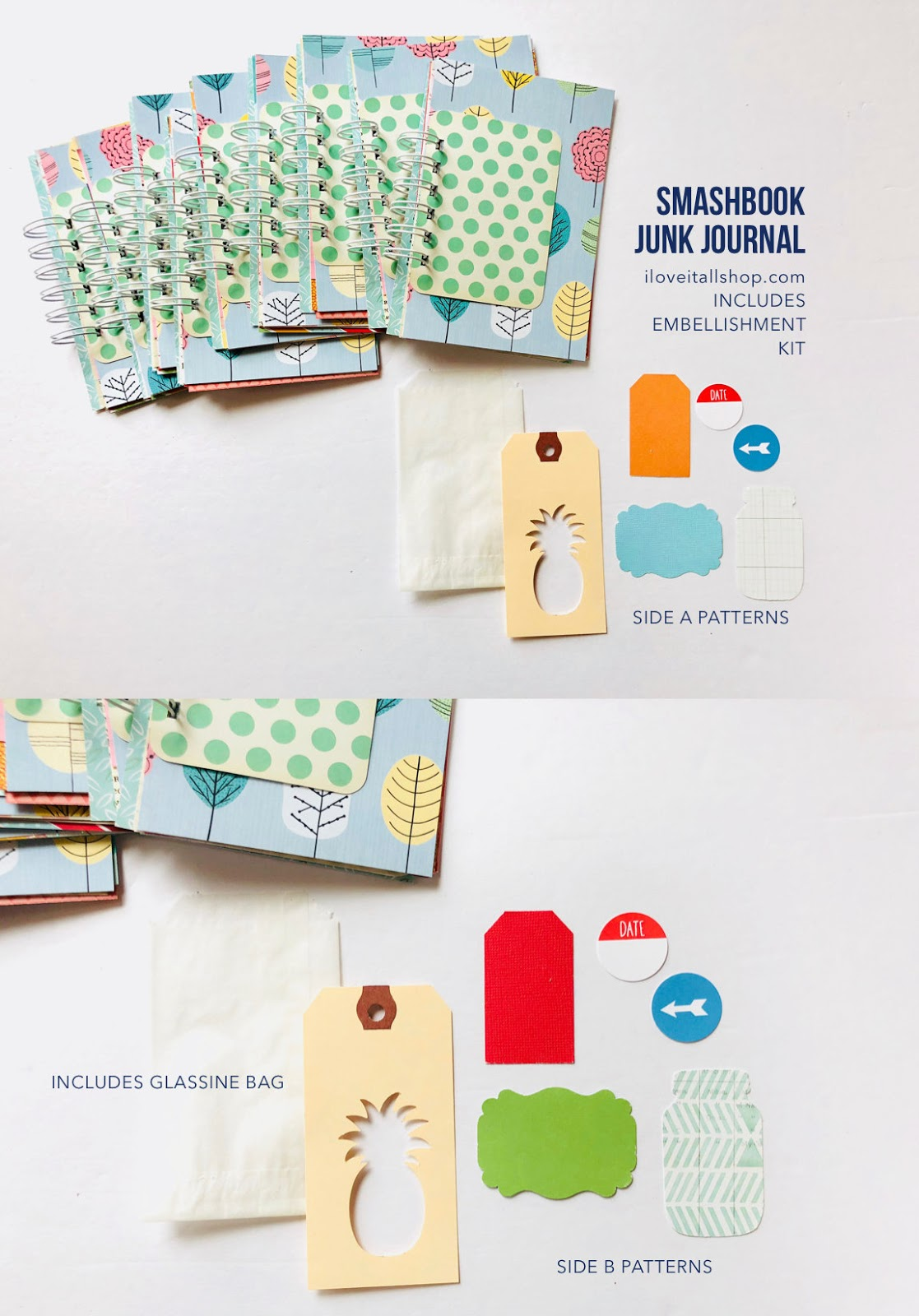 #30lists #journals #mini books #smashbook #mini album #notebooks #mixed media journals #instagram journal #gratitude journal