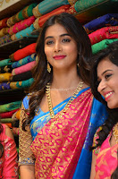 Puja Hegde looks stunning in Red saree at launch of Anutex shopping mall ~ Celebrities Galleries 054.JPG