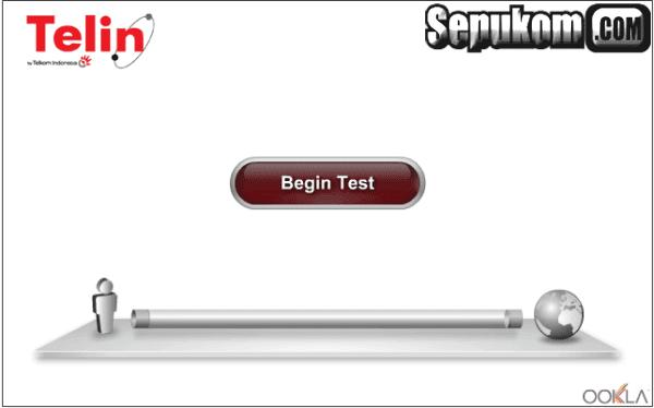 Tampilan Speedtellin versi web