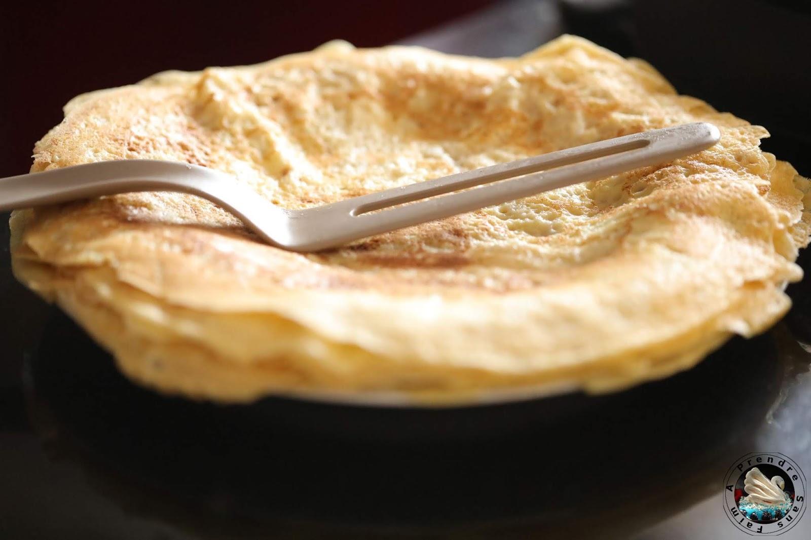 Crêpes sans gluten ni lactose amande coco