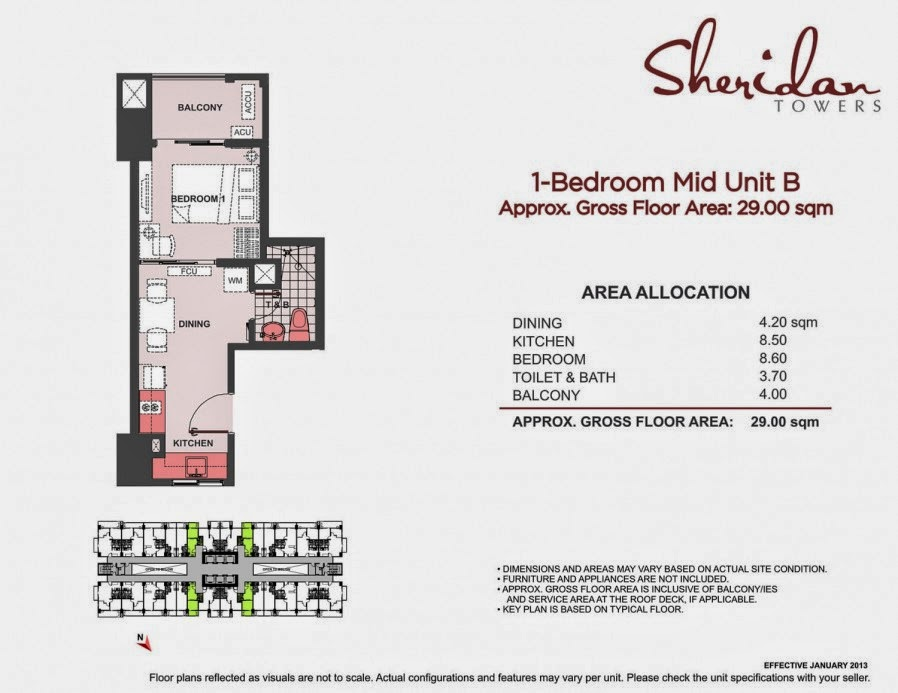Sheridan Towers  1-Bedroom Unit 29.00 sqm