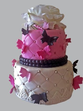 gâteau d'anniversaire miss papillons ~ mam'zelle cakes