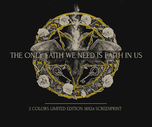 "New Art Print Available ""The Only Faith We Need Is Faith In Us"" by XUL1349"