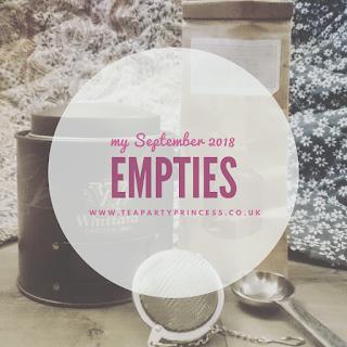 September Empties 2018