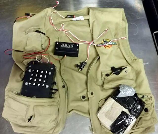 Replica suicide vest.